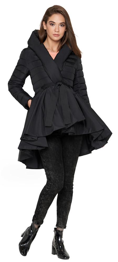 Куртка женская черная осенне-весенняя модель 25755