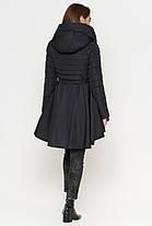 Куртка женская черная осенне-весенняя модель 25755, фото 2