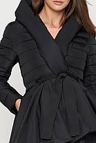 Куртка женская черная осенне-весенняя модель 25755, фото 3