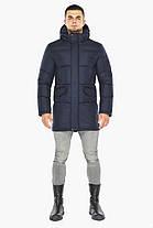 Темно-синяя куртка стильная мужская на зиму модель 47620, фото 2