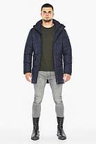 Темно-синяя куртка стильная мужская на зиму модель 47620, фото 3