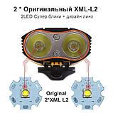 Велосипедный фонарь EBUYFIRE E-Y1+отличное крепление и USB TypeС (XML-L2*2, IPX6, Аккумулятор 18650*2 5200mAh), фото 5