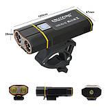 Велосипедный фонарь EBUYFIRE E-Y1+отличное крепление и USB TypeС (XML-L2*2, IPX6, Аккумулятор 18650*2 5200mAh), фото 2