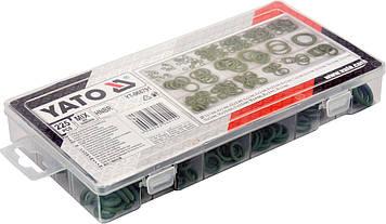 Комплект ущільнювальних кілець для автомобільних кондиціонерів 225 шт YATO YT-068791, фото 2