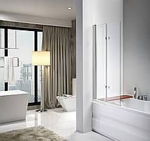 Скляна шторка для ванни AVKO Glass A647,120x140