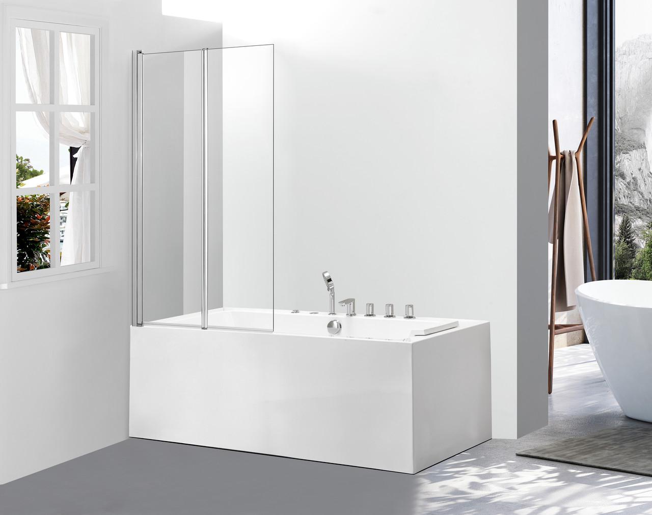 Скляна шторка для ванни AVKO Glass A542-2,140x120 Clear
