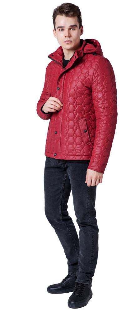 Красная ветровка осенне-весенняя мужская яркая модель 1386