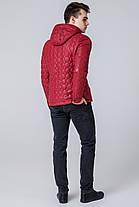 Красная ветровка осенне-весенняя мужская яркая модель 1386, фото 3