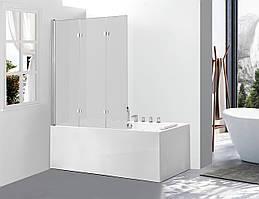 Скляна шторка для ванни AVKO Glass A542-7, 140х120