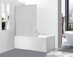 Скляна шторка для  ванни AVKO Glass A542-3, 120х140