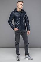 Легкая куртка темно-синяя осенне-весенняя модель 15353, фото 2