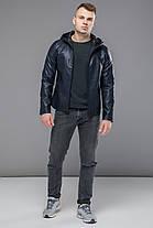 Легкая куртка темно-синяя осенне-весенняя модель 15353, фото 3