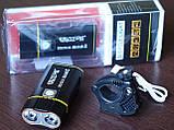 Велосипедный фонарь EBUYFIRE E-Y1+отличное крепление и USB TypeС (XML-L2*2, IPX6, Аккумулятор 18650*2 5200mAh), фото 8