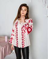 Святкова жіноча лянна вишиванка зі старовинною вишивкою