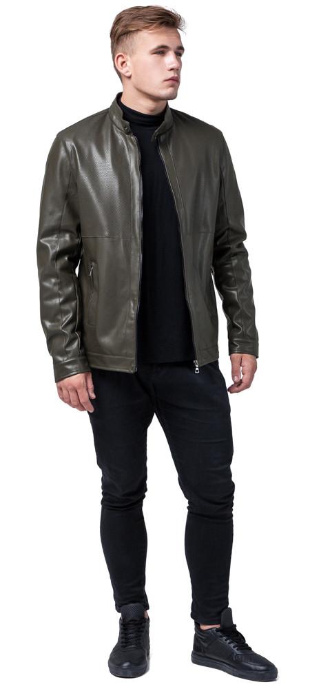 Куртка цвета хаки осенне-весенняя мужская стандартной длины модель 2193