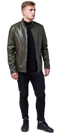 Куртка цвета хаки осенне-весенняя мужская стандартной длины модель 2193, фото 2