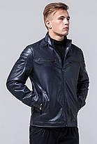 Темно-синяя куртка мужская осенне-весенняя с воротником-стойкой модель 2612, фото 2