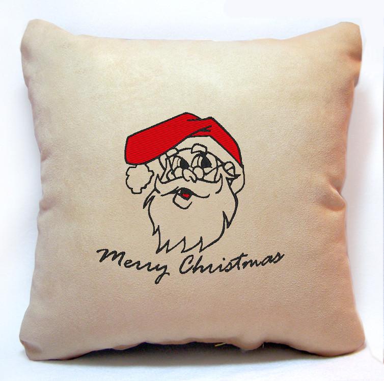 """Новогодняя подушка """"Санта Клаус"""" 33"""
