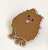 Значок брошка пін собака порода шпіц рудий метал емаль, фото 4