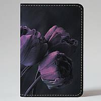 Обложка на автодокументы v.1.0. Fisher Gifts 256 Фиолетовые тюльпаны (эко-кожа)