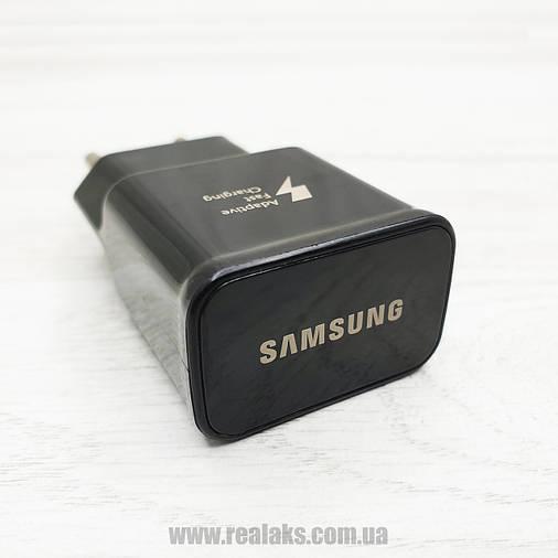 Мережевий зарядний пристрій Samsung original+ кабель USB Type-С EP-TA20EBE (чорний), фото 2