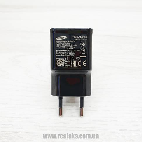 Мережевий зарядний пристрій Samsung original+ кабель USB Type-С EP-TA20EBE (чорний), фото 3