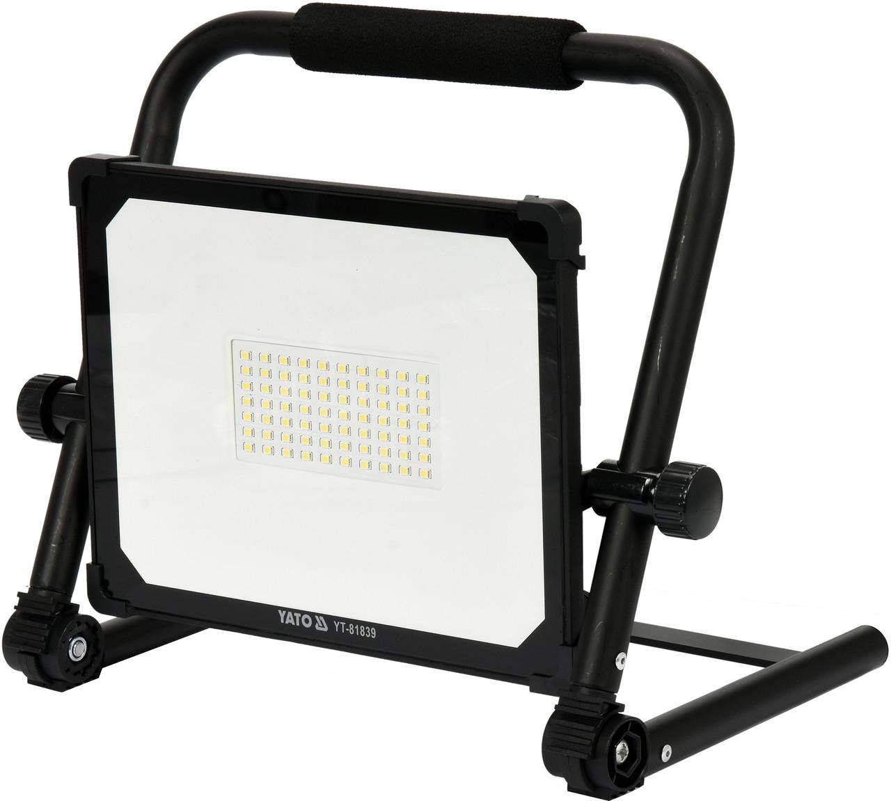 Переносной прожектор SMD LED 50 Вт YATO YT-81839