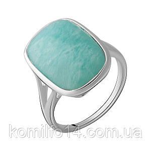 Серебряное кольцо с натуральным амазонитом