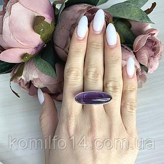 Серебряное кольцо с натуральным аметистом и розовым кварцем, фото 2