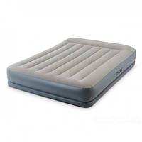 Надувная суперпрочная двухспальная кровать Intex 64770 технология Fiber-Tech , PremAire (152х203х46 см) +