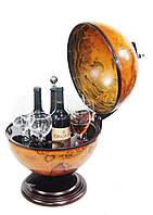 Глобус бар настольный коричневый 35.5*39.5*52 см Гранд Презент 36002R