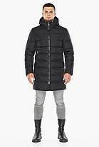 Куртка черная с манжетами мужская на зиму модель 42110, фото 2
