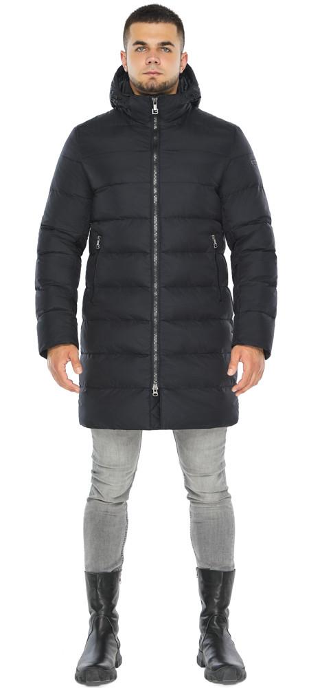 Темно-синяя куртка зимняя для мужчин модель 42110