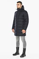 Темно-синяя куртка зимняя для мужчин модель 42110, фото 2