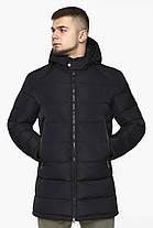 Черная куртка на змейке зимняя мужская модель 36470 (ОСТАЛСЯ ТОЛЬКО 56(3XL)), фото 2