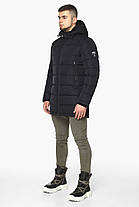 Черная куртка на змейке зимняя мужская модель 36470 (ОСТАЛСЯ ТОЛЬКО 56(3XL)), фото 3