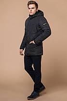 Графитовая мужская куртка с внешними карманами зимняя модель 44842, фото 2