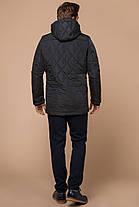 Графитовая мужская куртка с внешними карманами зимняя модель 44842, фото 3