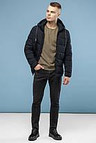 Мужская теплая куртка черная на зиму модель 6009, фото 2