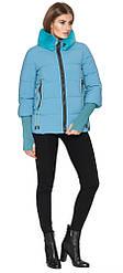 Короткая куртка женская на зиму голубая модель 1719-1