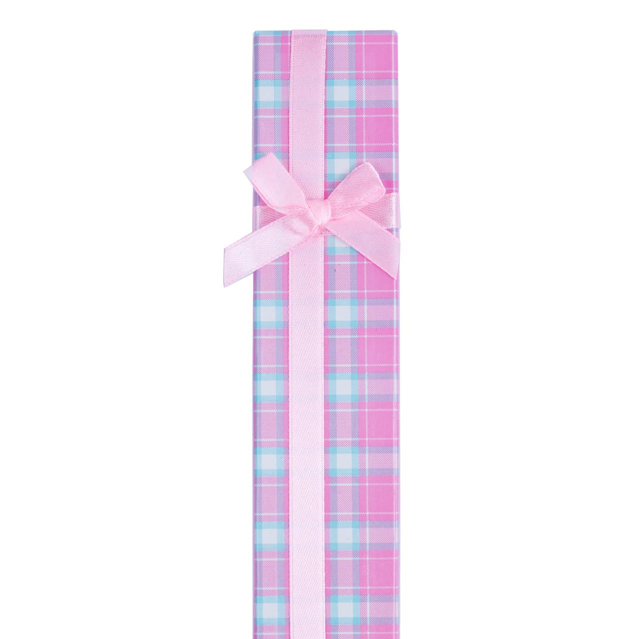Коробочка для браслета  Розовые клетки
