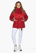 Рубиновый пуховик зимний женский модель 21045, фото 3