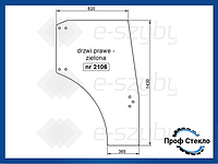 Стекло Deutz-Fahr Agroplus S, Agrocompact F, Lamborghini RS, RV, Agile, Same правая дверь колеса 24-28