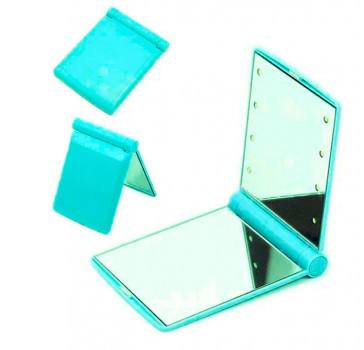 Мини-зеркало с подсветкой 8 Led Голубое