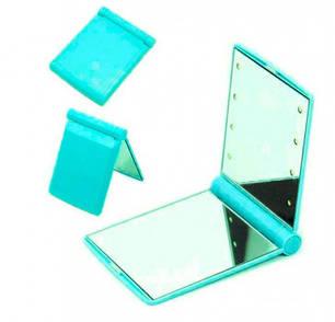 Мини-зеркало с подсветкой 8 Led Голубое, фото 2