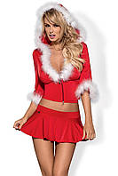 Костюм Obsessive SANTA LADY skirty set OB0218