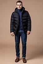 Зимняя черная мужская куртка модная модель 20180, фото 3