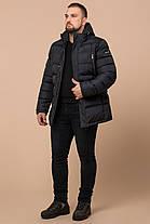 Куртка большого размера качественная зимняя мужская цвет графит модель 12952, фото 3