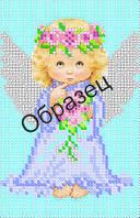 Схема для вышивки бисером « Ангел с букетом»