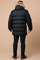 Мужская теплая куртка большого размера графитового цвета зимняя модель 37762, фото 3